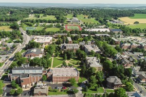Aerial picture of Lebanon Valley College campus