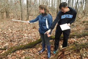Environmental Science students learn to identify common animals and plants of Pennsylvania in the local preserve