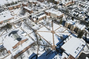 LVC campus in the snow