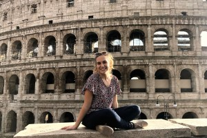 LVC physical therapy student Celia Yost in Italy