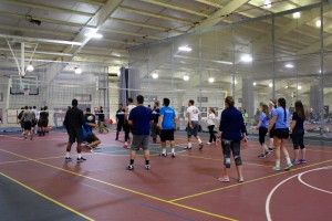 Students participate in one of the many intramural sports LVC has to offer