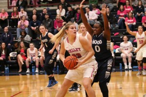 LVC's women's basketball team plays in the annual pink game