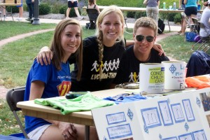 The activities fair allows students to gather information on campus organizations and events offered at LVC
