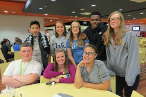 Kelly O' Brien, an LVC History graduate, brought her students to visit her alma matter