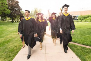 Students prepare for graduation ceremonies