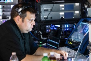 Tug Bressler works as a broadcast engineer after earning a music recording technology degree from LVC.