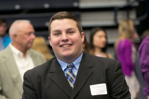 Eric Kennedy, a digital communications major, presented his capstone project at inquiry