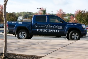 Public Safety patrols campus to maintain a safe environment