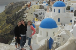 LVC students enjoy their study abroad experience in Oia, Greece