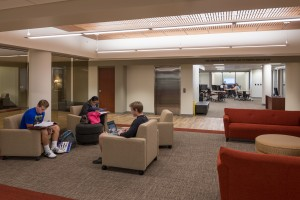 Lebegern Learning Commons serves as a work area for students