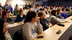 LVC history students attend a lecture