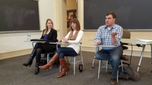 Lebanon Valley College politics majors partake in a classroom discussion