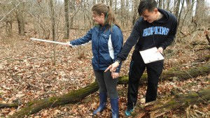 Environmental Science students use Rohland Woods to learn about Pennsylvania native plants and animals