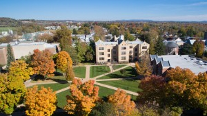 Aerial shot of the academic quad