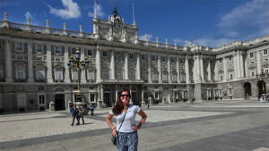 Erin Angelini visits the Royal Palace in Madrid while studying abroad