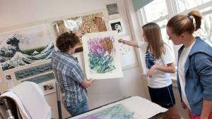 LVC art students showcase their artwork in the classroom