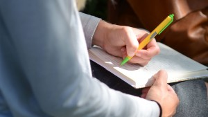 Lebanon Valley College student developing ideas for her creative writing paper