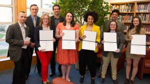 Religion students are inducted into Theta Alpha Kappa, the national honor society of religious studies