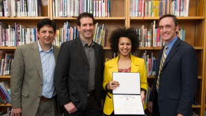 Religion and philosophy professors induct students into the Theta Alpha Kappa honor society