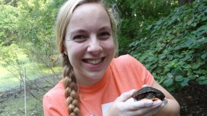 LVC Environmental Science students collect turtles from their field sites for research