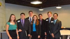 LVC Actuarial students gather for a photo at the Career Fair