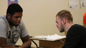 LVC Education majors work together to complete a class activity