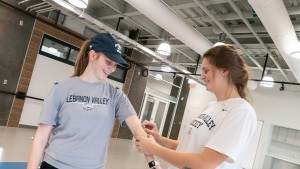 LVC Exercise Science students test new analytical equipment