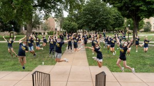 lebanon valley college first year mentors welcome new students during orientation