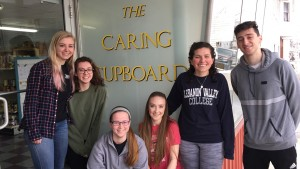 LVC Students serve regularly at The Caring Cupboard