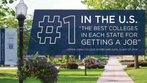 Lebanon Valley College was ranked number 1 for graduates getting a job.
