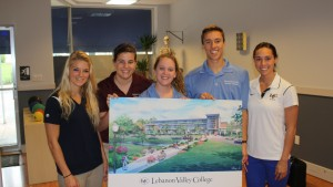 Physical Therapy students display new Arnold Health Professions Pavilion rendering