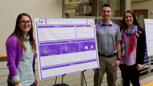 Psychology majors display their research at the annual psychology poster session
