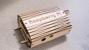 LVC Interaction Design majors create raspberry pi's with the laser cutter