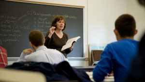 Applied History Professor, Diane Johnson, teaches her students