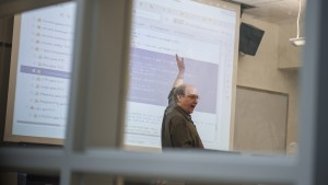 LVC Mathematical Science professor Kenneth Yarnell teaches a lesson on Java