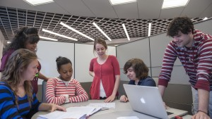 LVC Computer and Data Science students work together on a group project
