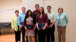 Lebanon Valley College students receive awards at the sociology and criminal justice departmental awards ceremony