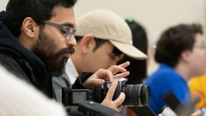 Lebanon Valley College students learn photography skills.
