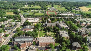 Aerial View of Lebanon Valley College's Beautiful Campus