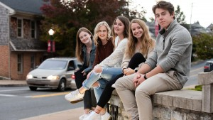 LVC students hanging out in downtown Annville