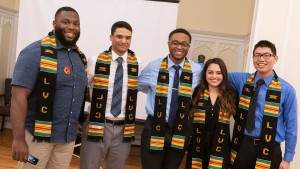 Lebanon Valley College students celebrate at a Kente and Lavender ceremony