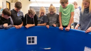 Lebanon Valley College science students hosted Annville Cleona sixth graders for a day of STEM learning