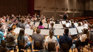 Lebanon Valley College students perform in the orchestra ensemble