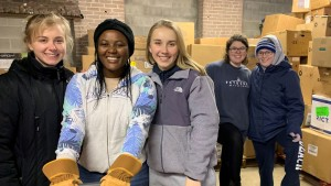 Students at Lebanon Valley College serve at AFCA