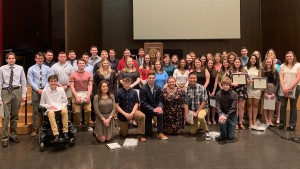 Lebanon Valley College students are inducted into the leadership honor society