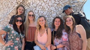 LVC students study in Barcelona, Spain, as part of an art study abroad program