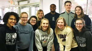 LVC students serve at The Caring Cupboard