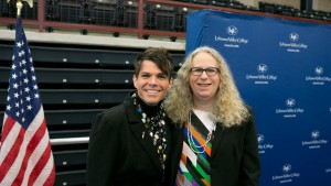 Todd Snovel and Dr. Rachel Levine attend the Symposium on Inclusive Excellence