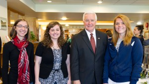Pennsylvania Governor Tom Corbett '71 returned to LVC to speak with current history students