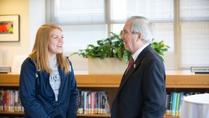 Pennsylvania Governor Tom Corbett '71 visited LVC to share his knowledge and teach a class